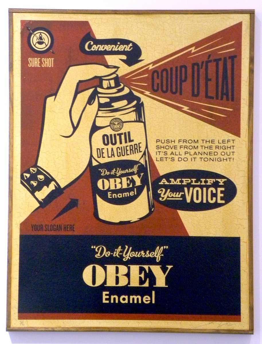 Obey Coup D'etat (on Wood) 2003