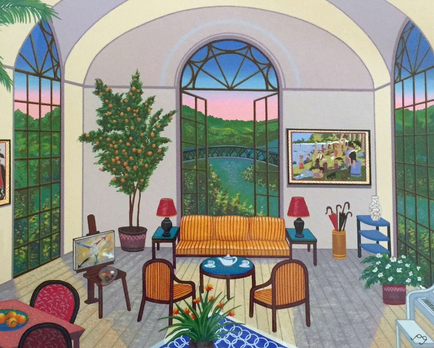 Interior With Seurat 1995