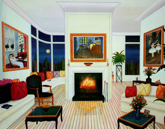 Interior With Van Gogh 2000