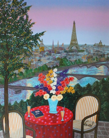 Breakfast in Paris 2000 by Fanch Ledan