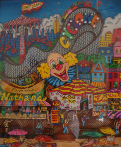 New York Coney Island Painting 2001 29x25