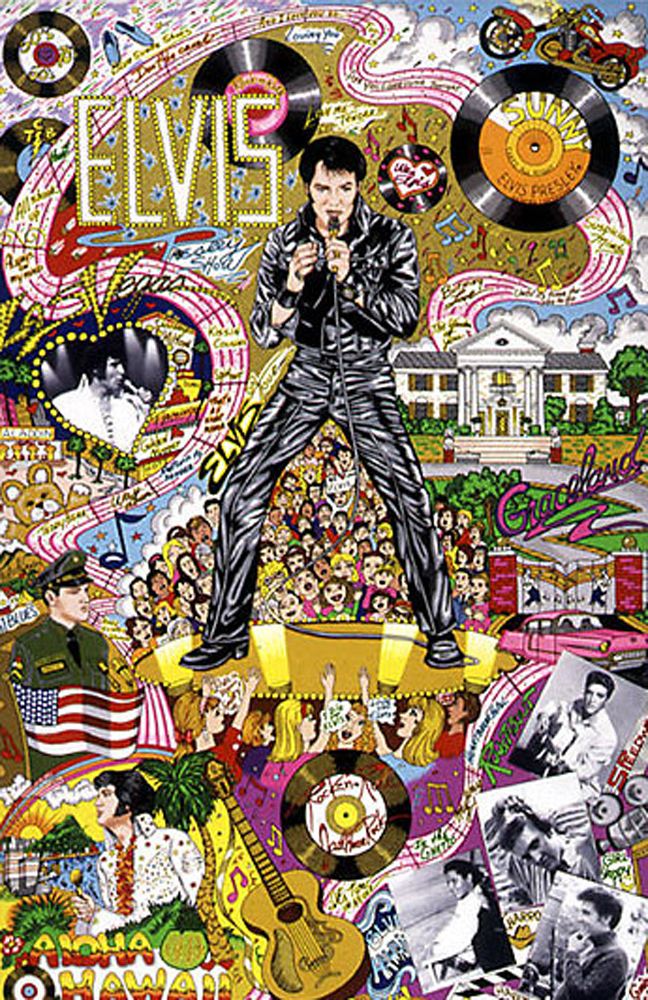 Remembering Elvis 1999 3-D by Charles Fazzino