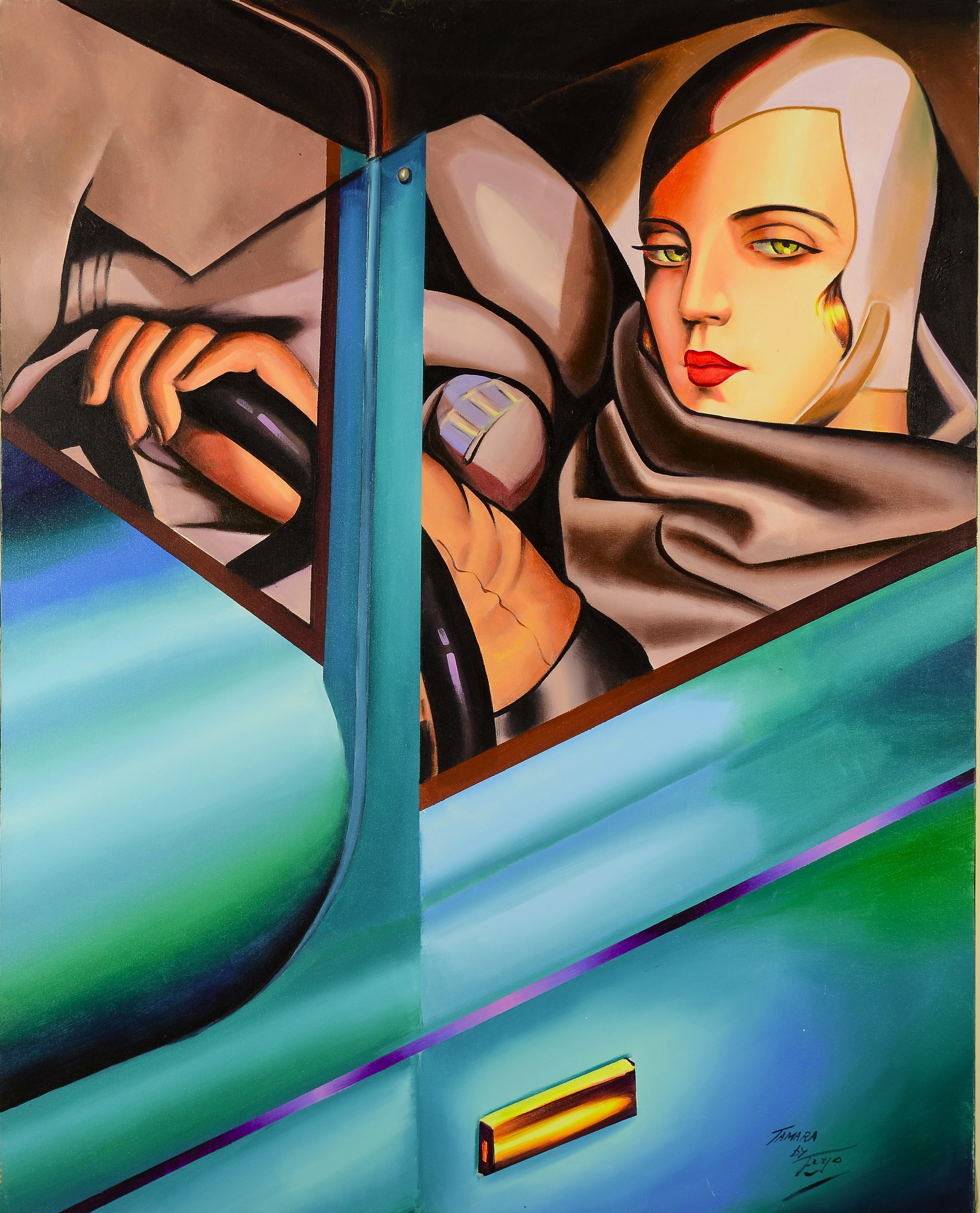 Homage to Tamara Lempicka 2005 50x40