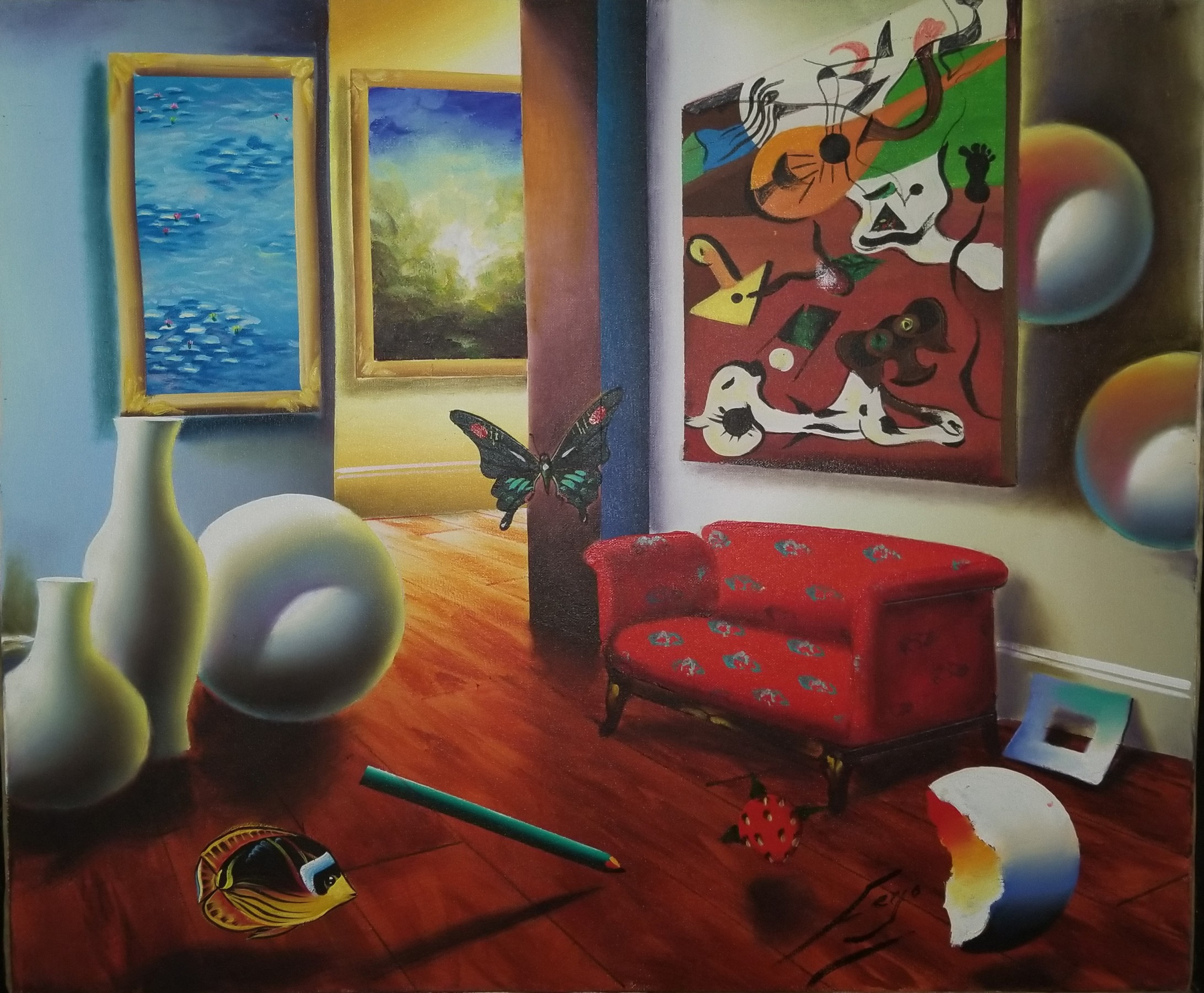 Untitled Interior 22x26