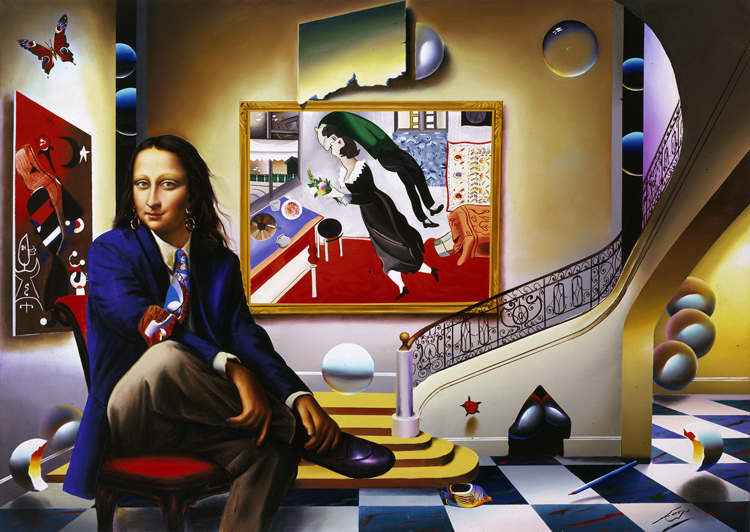 Mona With Chagall  2005