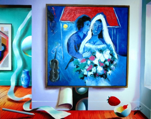 Untitled Interior with Chagall Painting 23x29