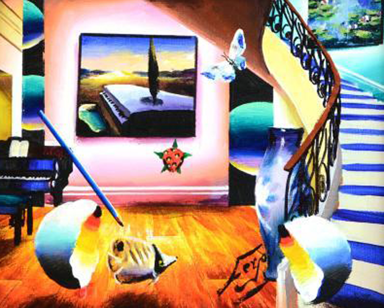 Dali's Fanciful Room 17x15