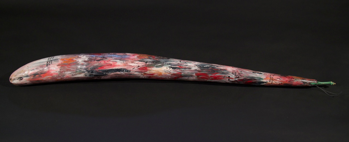 Hell Themed Painted Gourd 49 in