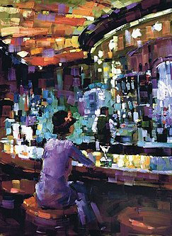 Mel At the Bar 2003 Embellished