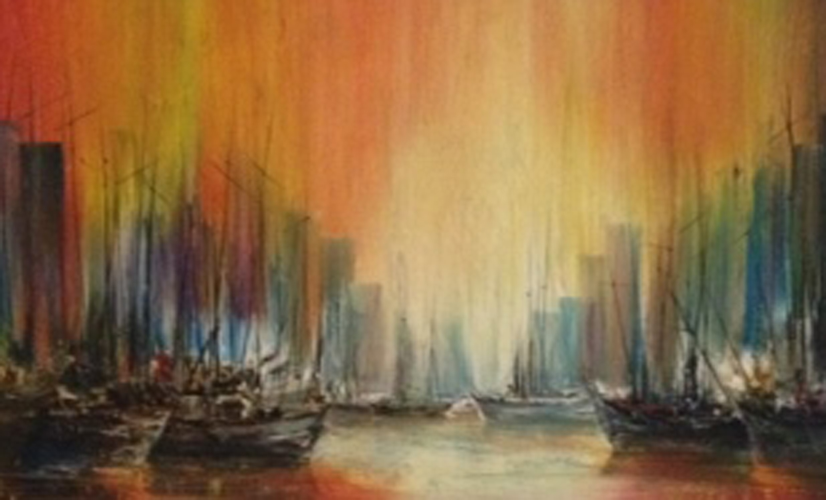 City Seascape 1970 35x59