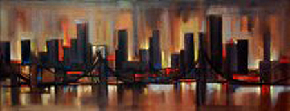 Untitled Cityscape Painting 1965