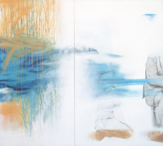 I Will Return You the Smile (diptych) 2002 47x51