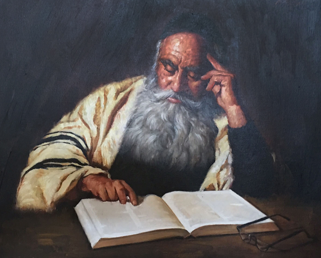 Rabbi Reading  1970 20x24
