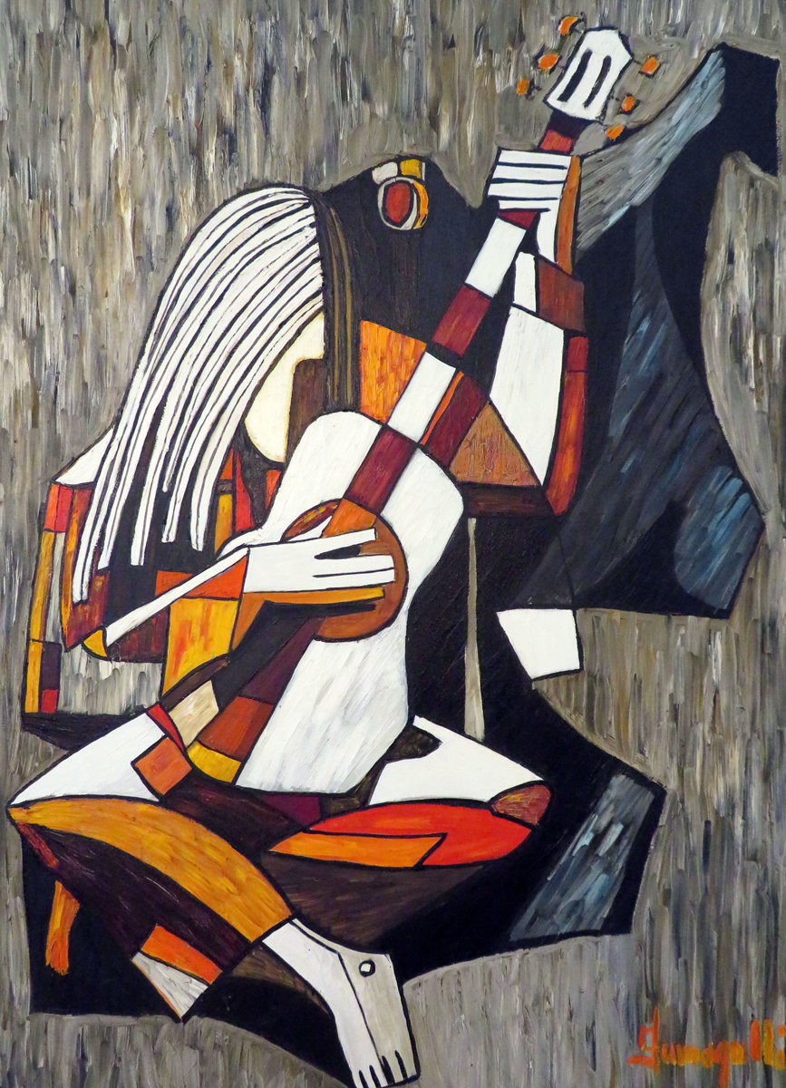 Untitled Musician 1973  49x36 by Luigi Fumagalli