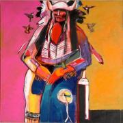 Shaman of the Lakota Sioux 2009 40x40