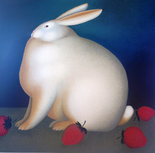Rabbit With Strawberries TP 1987 by Igor Galanin
