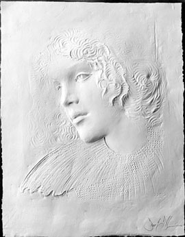 Angela Cast Paper Sculpture 1981