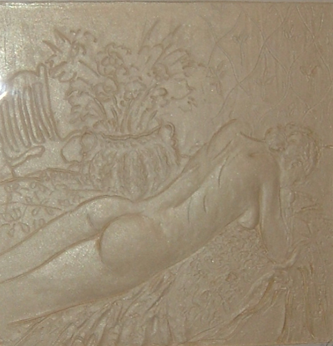 Reclining Nude Cast Paper Sculpture 1995