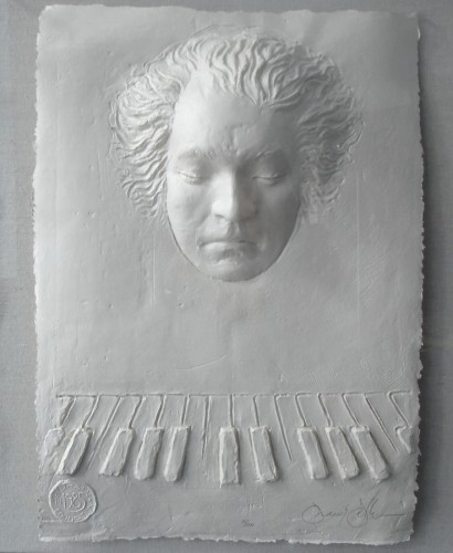 Beethoven Foundation Cast Paper  Sculpture 1985