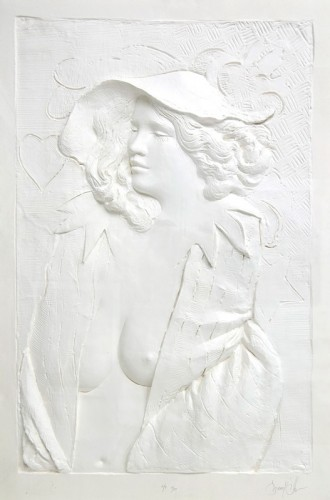Actress Cast Paper Sculpture 1980 64x46