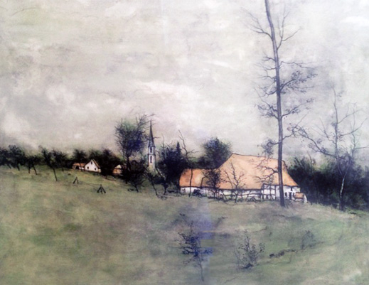 Untitled Landscape With Cottage.