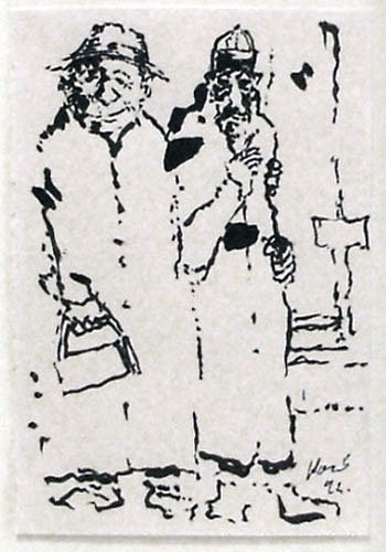 Street Guys Drawing 1992