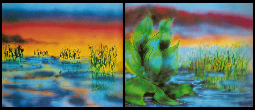 Wetlands I and II Matched Set 1990 Hand Signed