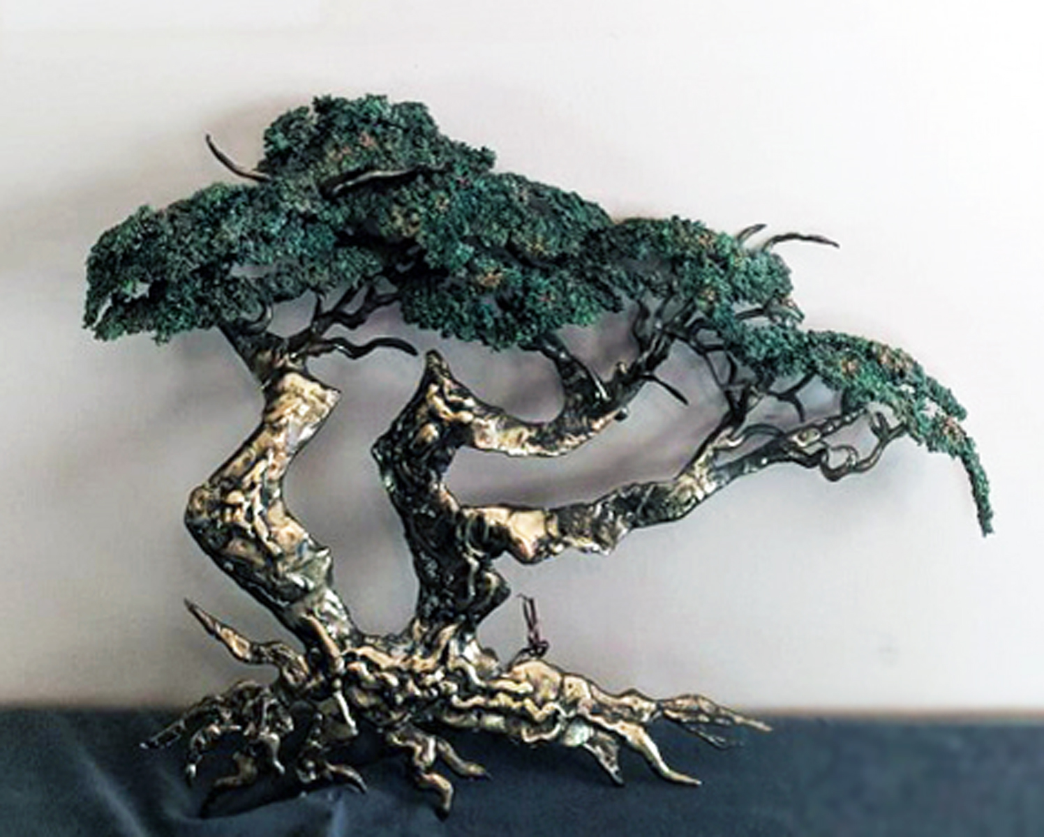 Medium Cypress Tree Bronze Sculpture 1991 25 in