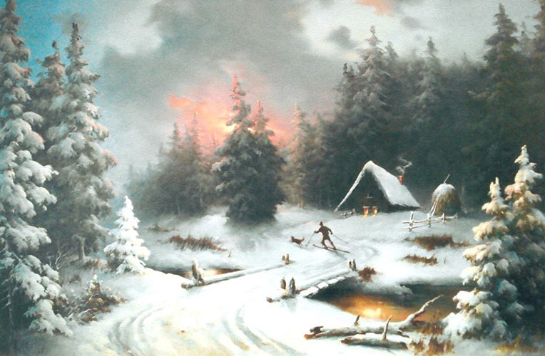 Winter Landscape 1981 34x60