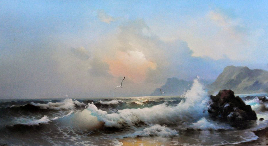Untitled Seascape 1978 24x48