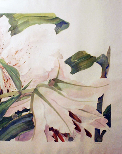 Tiger Lilies Dyptich 1979 39x64