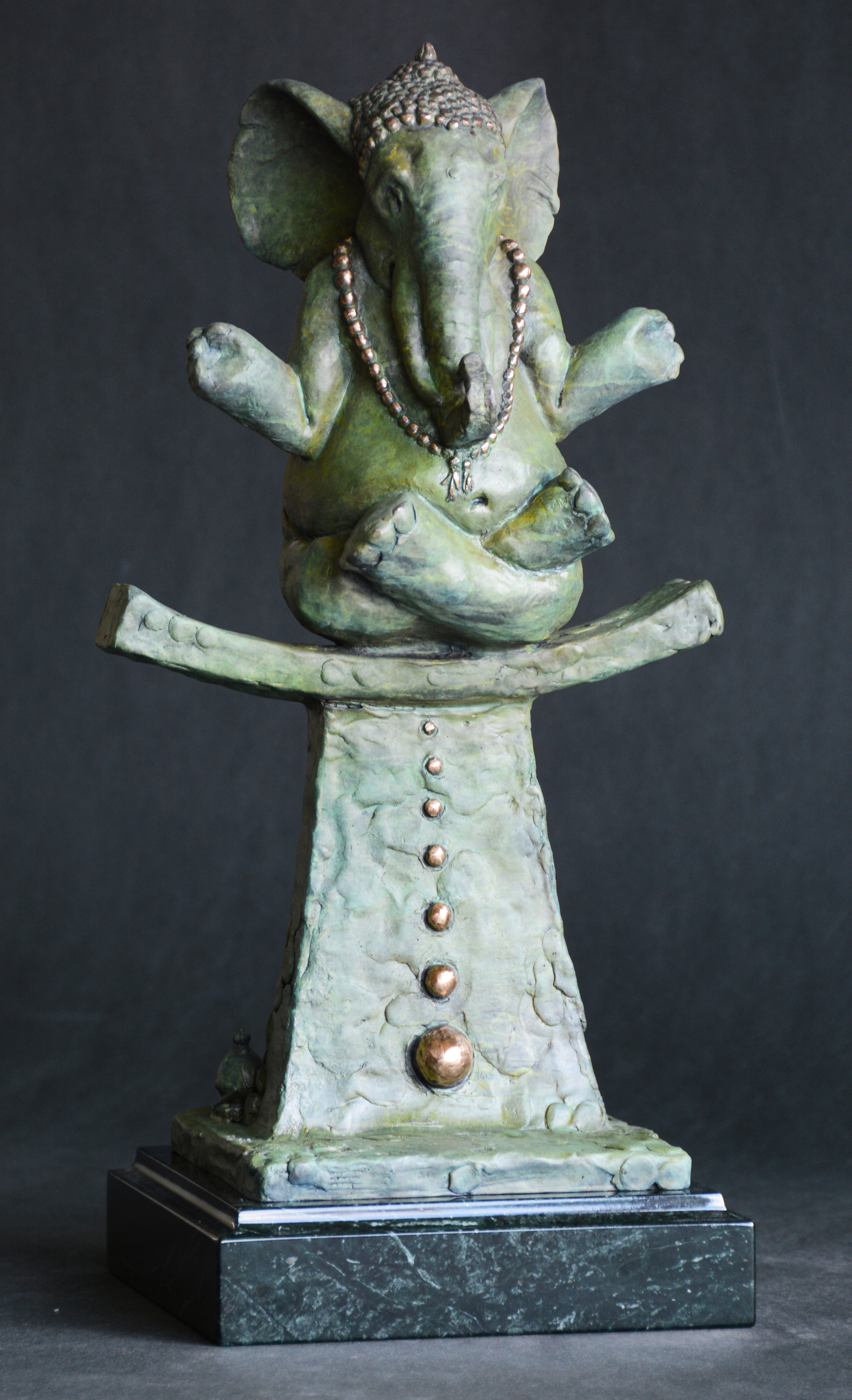 Buddhaphant Bronze Sculpture 2014 17 in