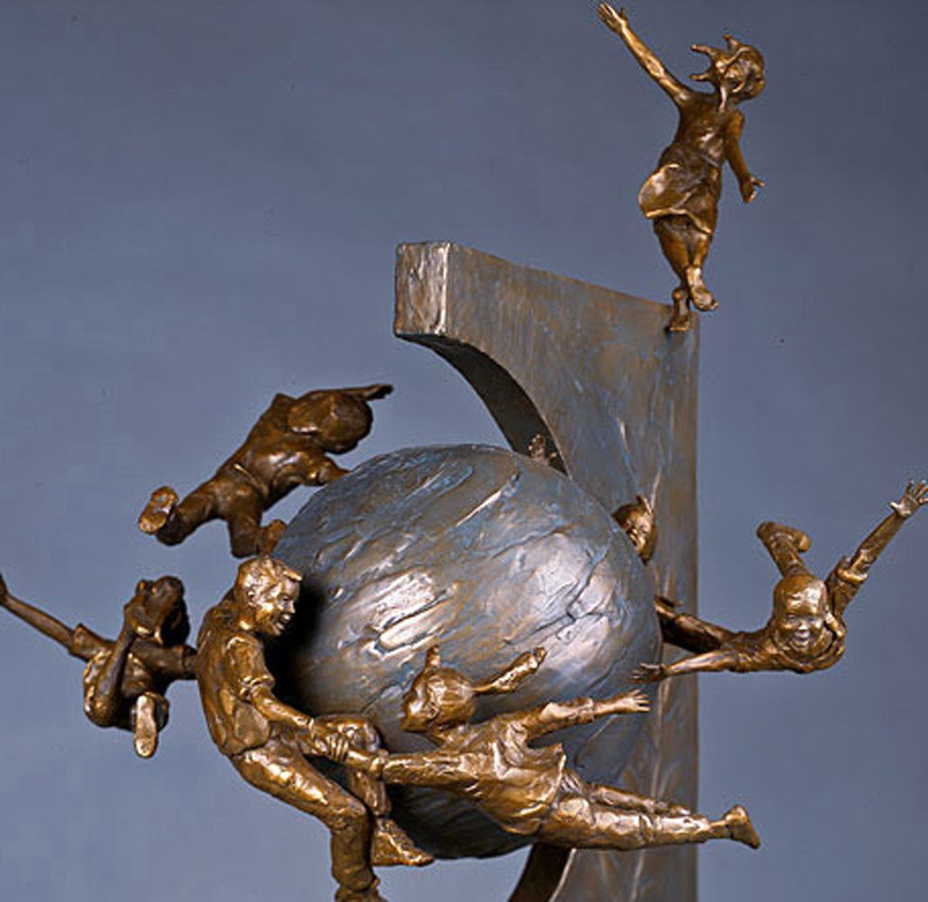 Celebration Bronze Sculpture 1994 28 in