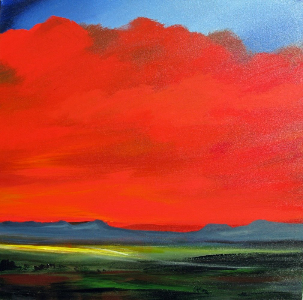 Red Sunset 2010 36x36