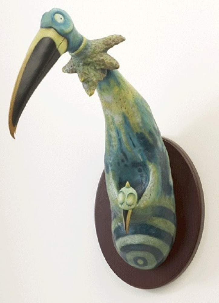 Kangaroo Bird Resin Sculpture 2006 22 in