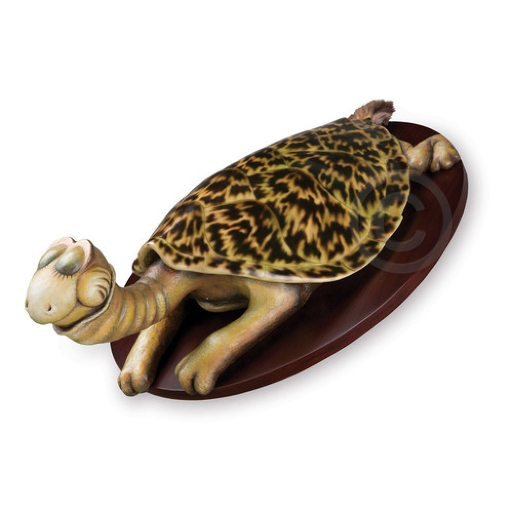 Turtle-Necked  Sea-Turtle Resin Sculpture 24 in