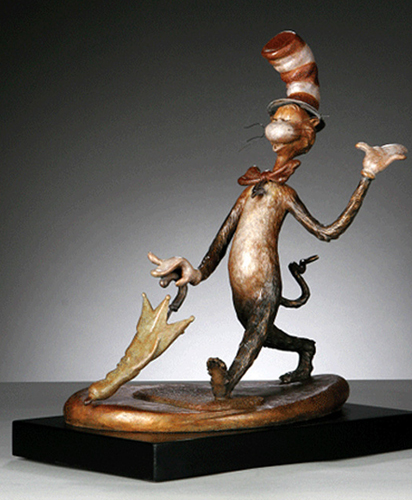 Cat in the Hat Large Bronze Sculpture 2006 48 in high (San Diego Show)