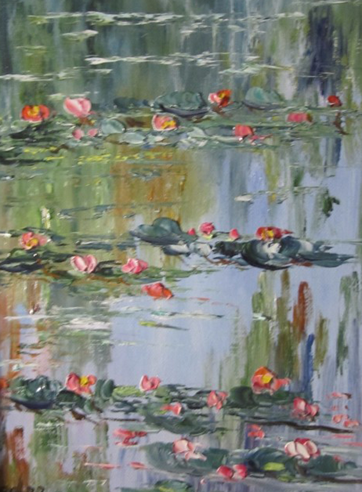 Les Nympheas (Waterlilies) Chez Claude  2002 14x16
