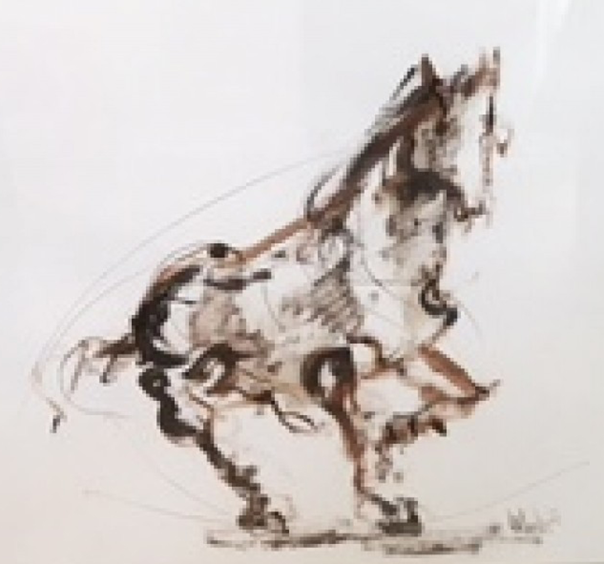 Horse Brown And Horse Blue - Suite of Two 1971 24x26