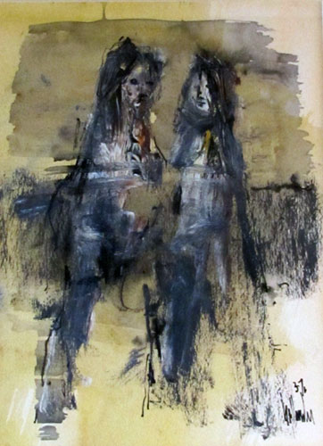 Untitled (Two Figures) 1976 12x10