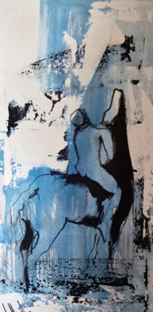 Untitled Blue Figure 1975