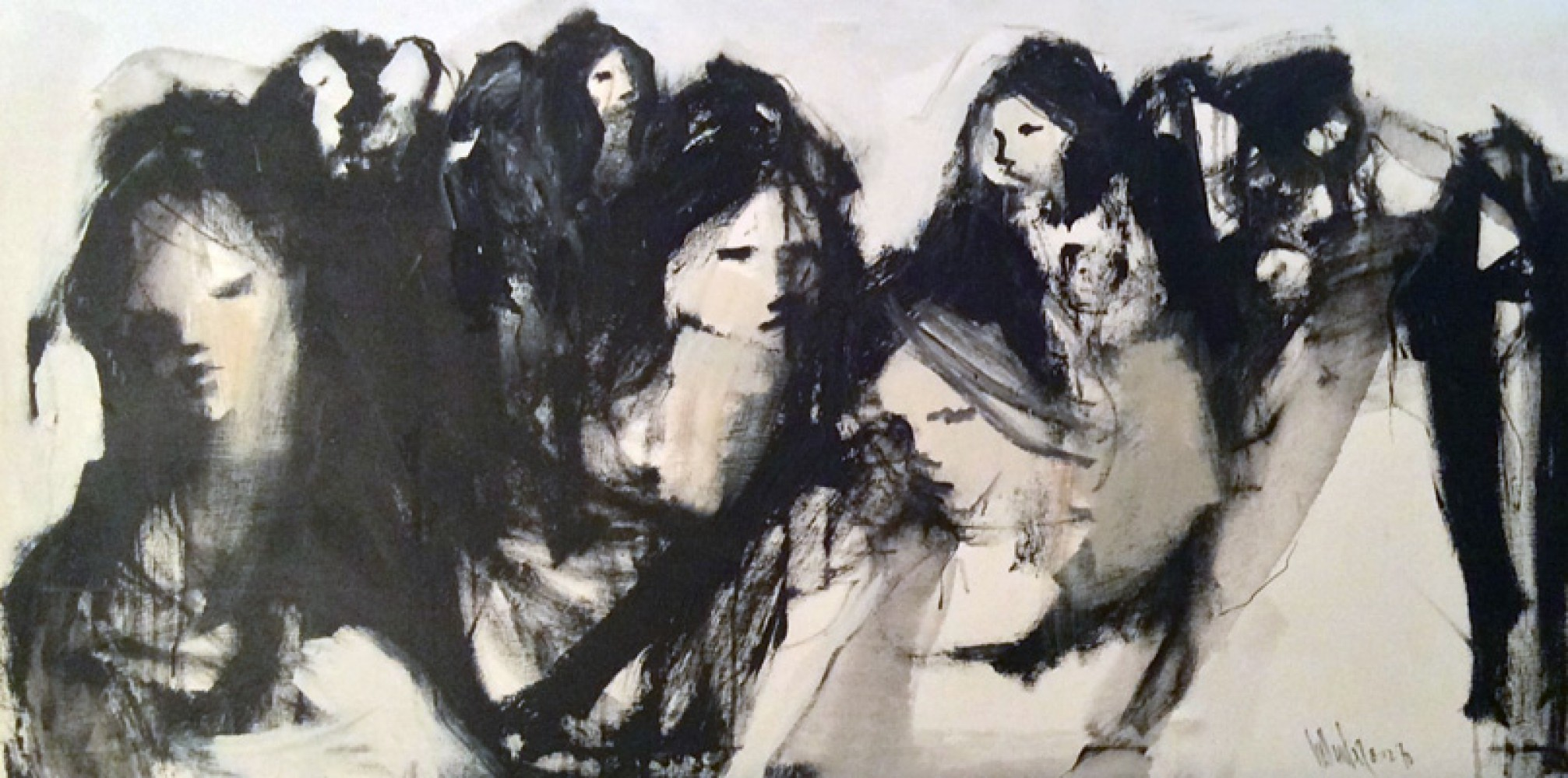 Untitled Group of Ladies 1970 35x66