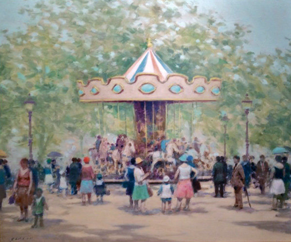 Carousel in the Park 1988 31x27
