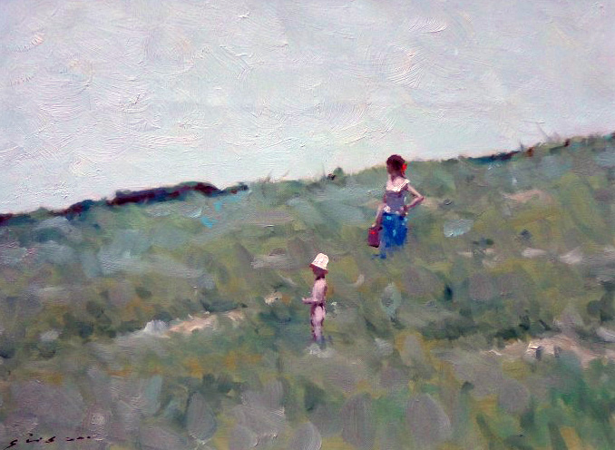 Woman And Child in a Field