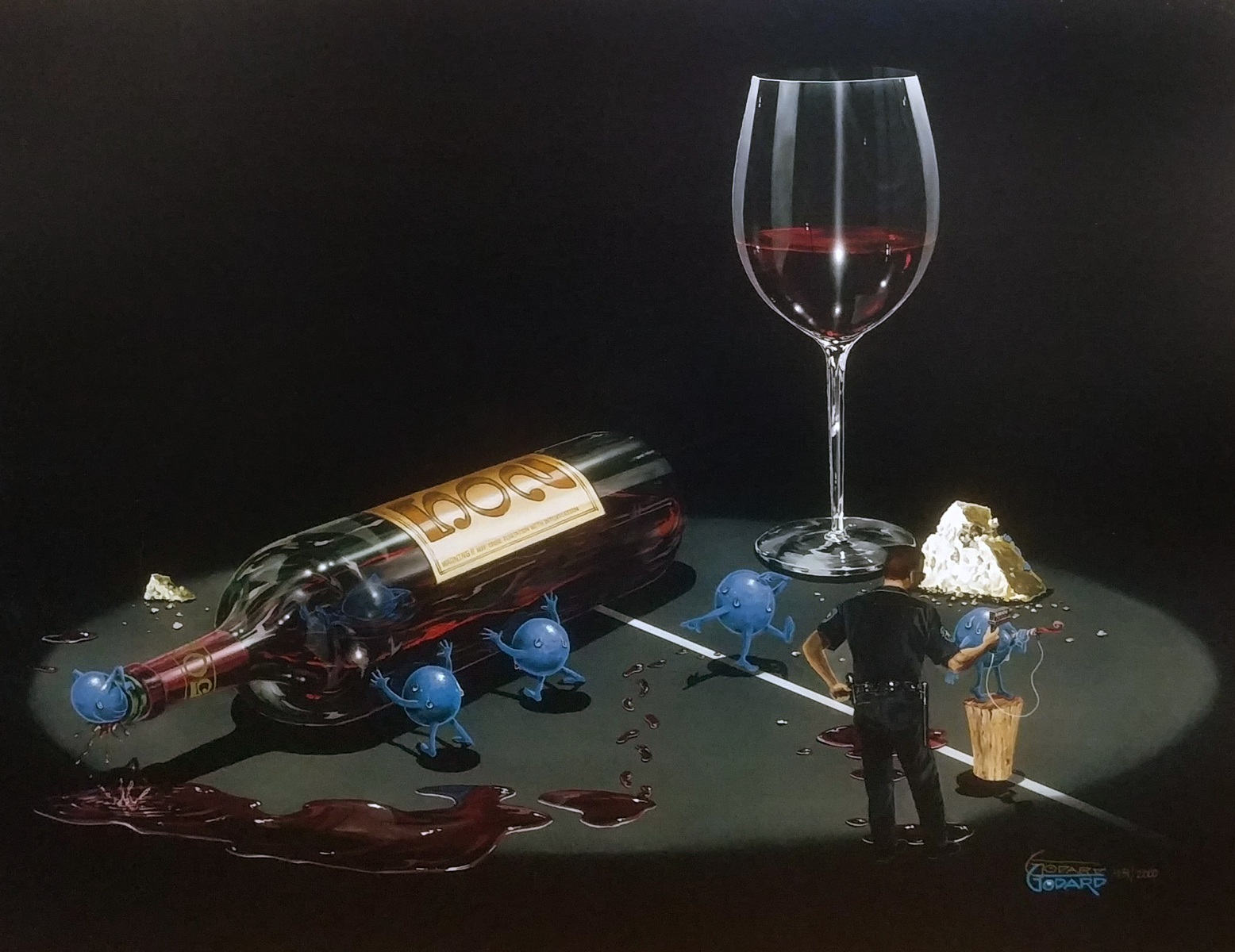 """Michael Godard """" A Drink with the Angels """" 17.5"""" by 23.3 ... 