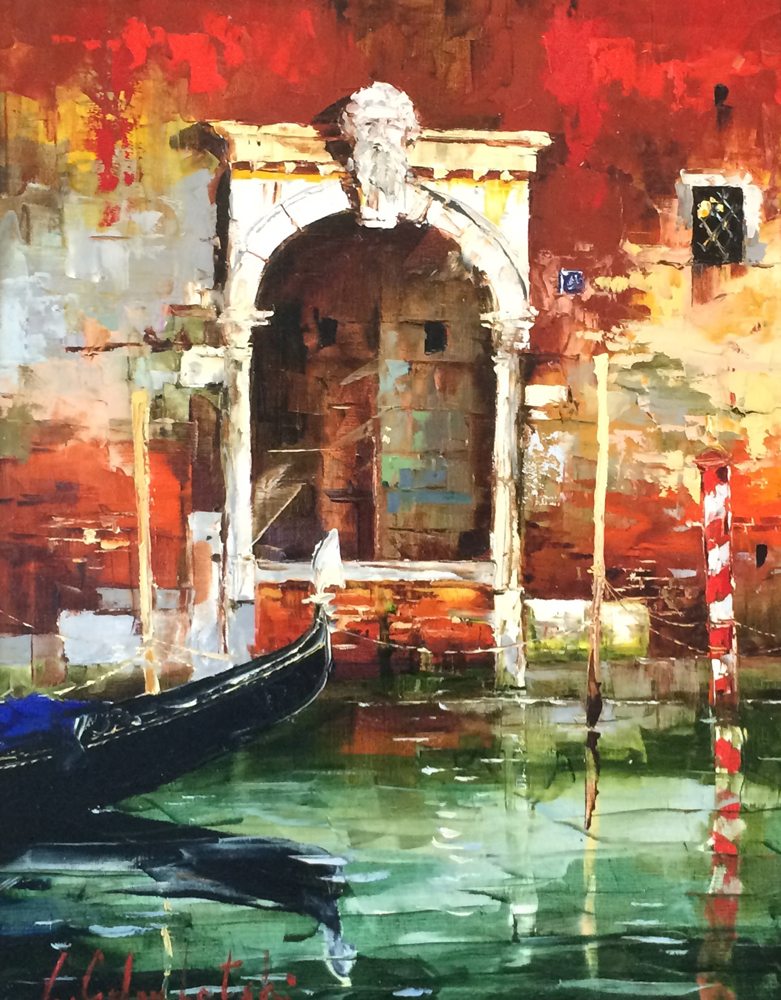 Venice Door 2006 36x29 by Gleb Goloubetski