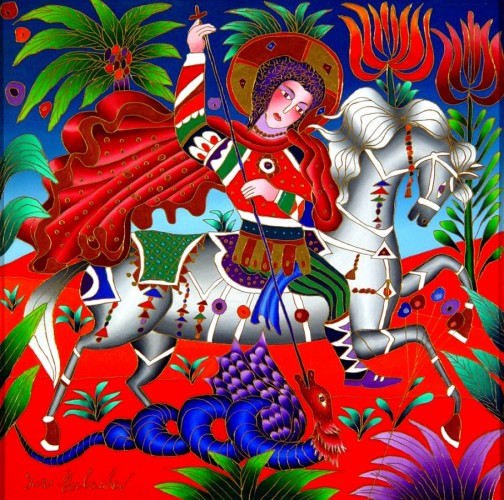 St. George Killing Dragon 2009 24x24