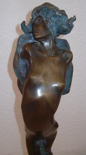 Paar Bronze Sculpture 1995 30 in