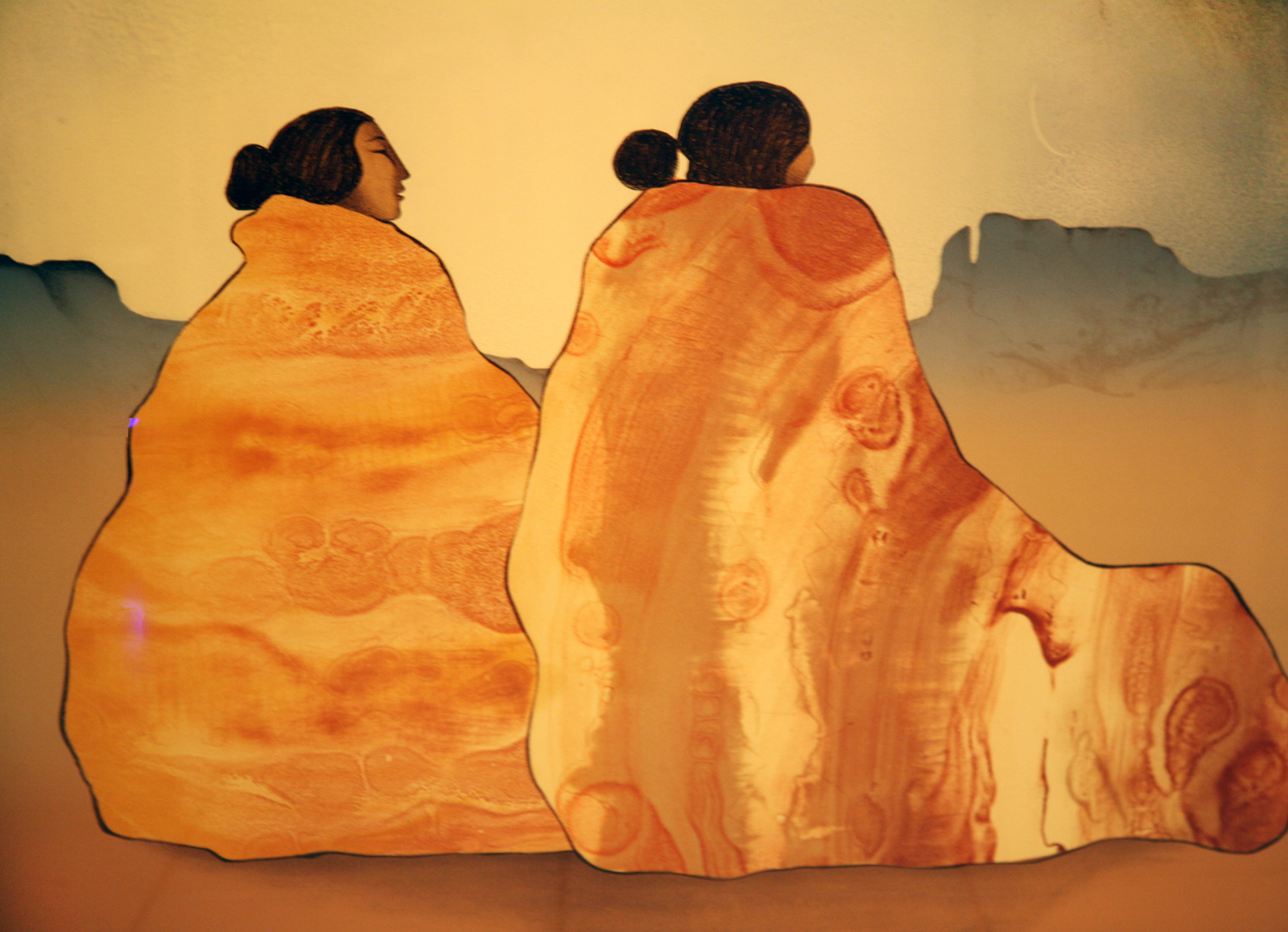 Two Women in Rock Texture Blankets 1981