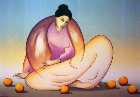 Woman with Oranges 1983